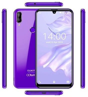 Телефон OUKITEL C16 Pro Black/Purple (Red)